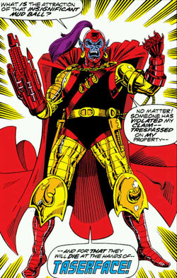 Taserface (Earth-691) from Guardians of the Galaxy Vol 1 1 0001.jpg