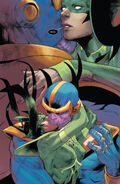 Thanos (Earth-616) and Hela (Earth-616) from Unworthy Thor Vol 1 5 001