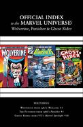 Wolverine, Punisher & Ghost Rider Official Index to the Marvel Universe Vol 1 1 Solicited