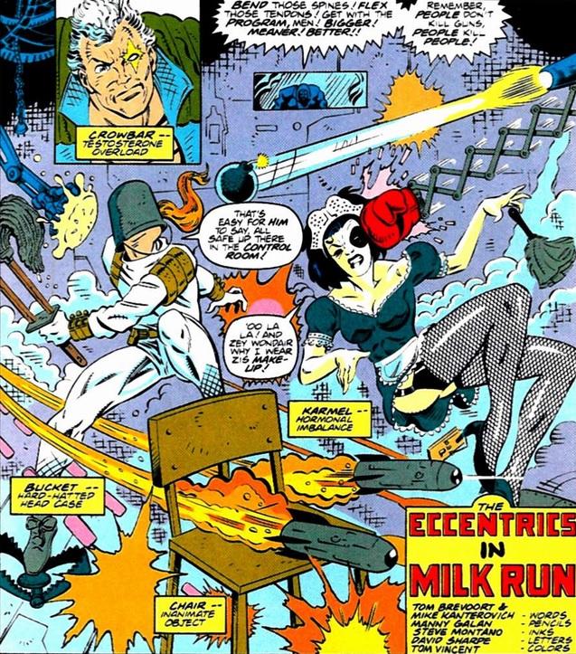 Bucket, Chair, Crowbar, Eccentrics, Karmel (Earth-9047) from What The-- Vol 1 25.jpg
