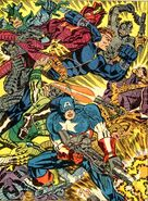 Steve Rogers (Earth-616) Captain America and Nick Fury fighting side-by-side in Strange Tales vol 1 161