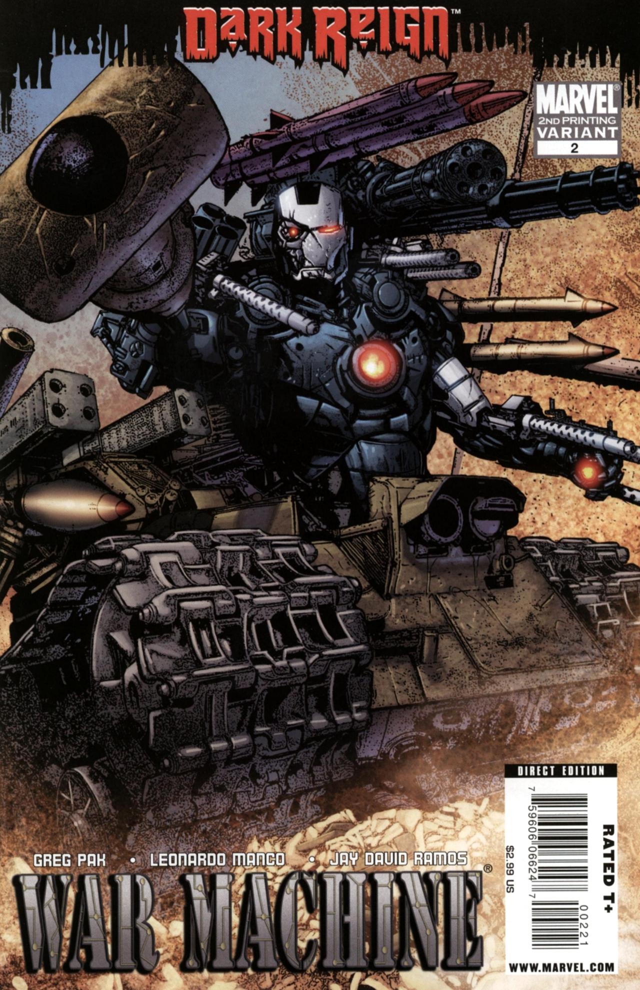War Machine Vol 2 2 Second Printing Variant.jpg