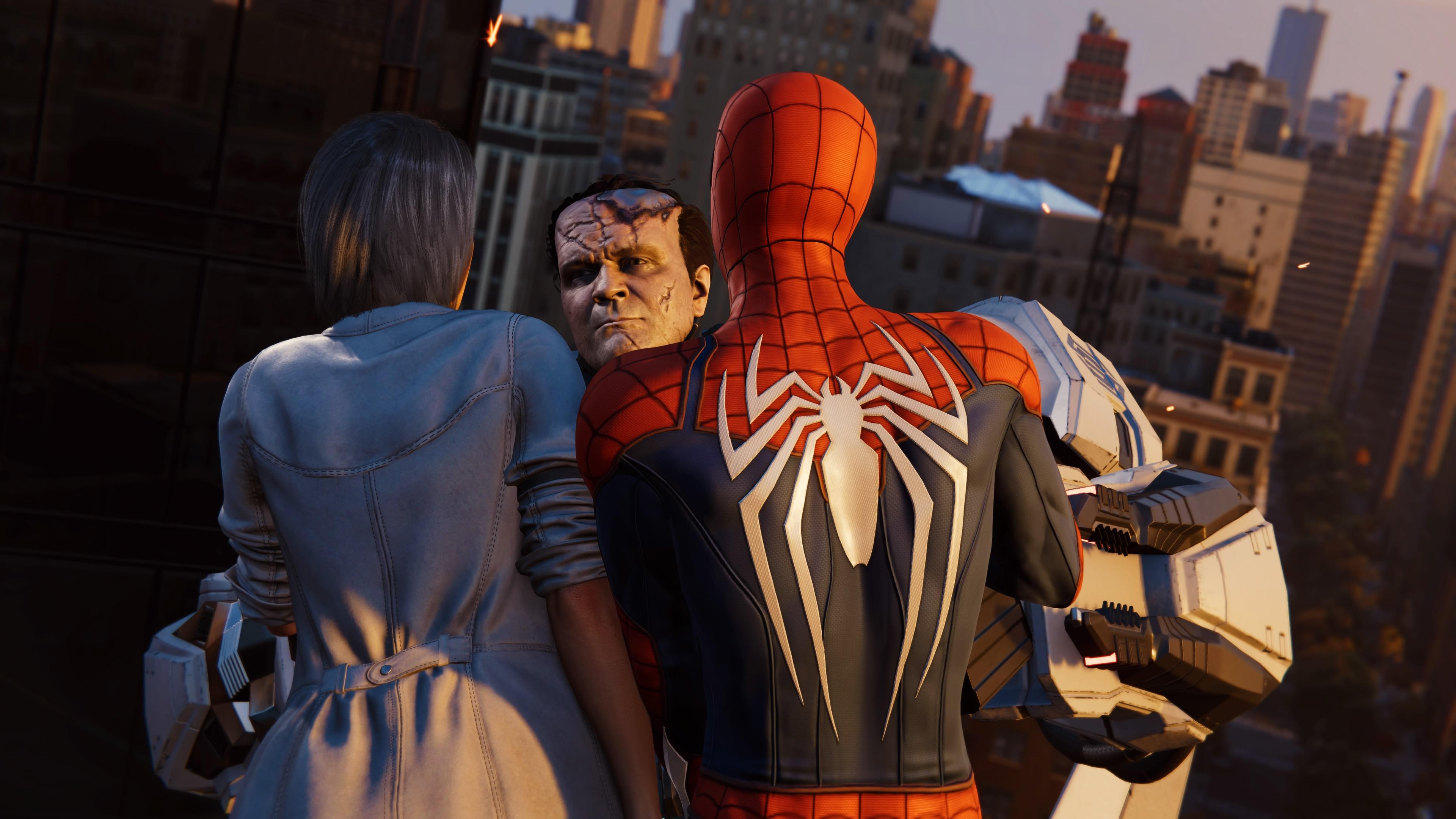 Joseph Martello (Earth-1048) vs. Peter Parker (Earth-1048) and Silver Sablinova (Earth-1048) from Marvel's Spider-Man (video game) 001.jpg