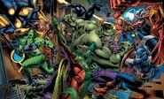 Bruce Banner (Earth-616), Avengers (Earth-616), Vision (Earth-616), Richard Rider (Earth-616) and Clinton Barton (Earth-616) from Immortal Hulk Vol 1 49 001