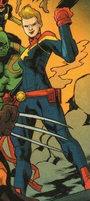 Carol Danvers (Project Doppelganger LMD) (Earth-18236) from Spider-Man Deadpool Vol 1 34 001.jpg