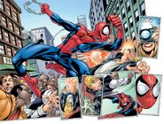 Karen (Earth-1610), Peter Parker (Earth-1610), and Daniel Rand (Earth-1610) from Ultimate Spider-Man Vol 1 ½ 001