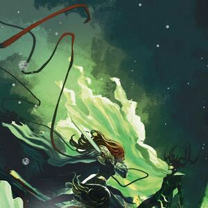 Aldrif Odinsdottir (Earth-616) vs. Hela (Earth-616) from Angela Queen of Hel Vol 1 5 001.jpg