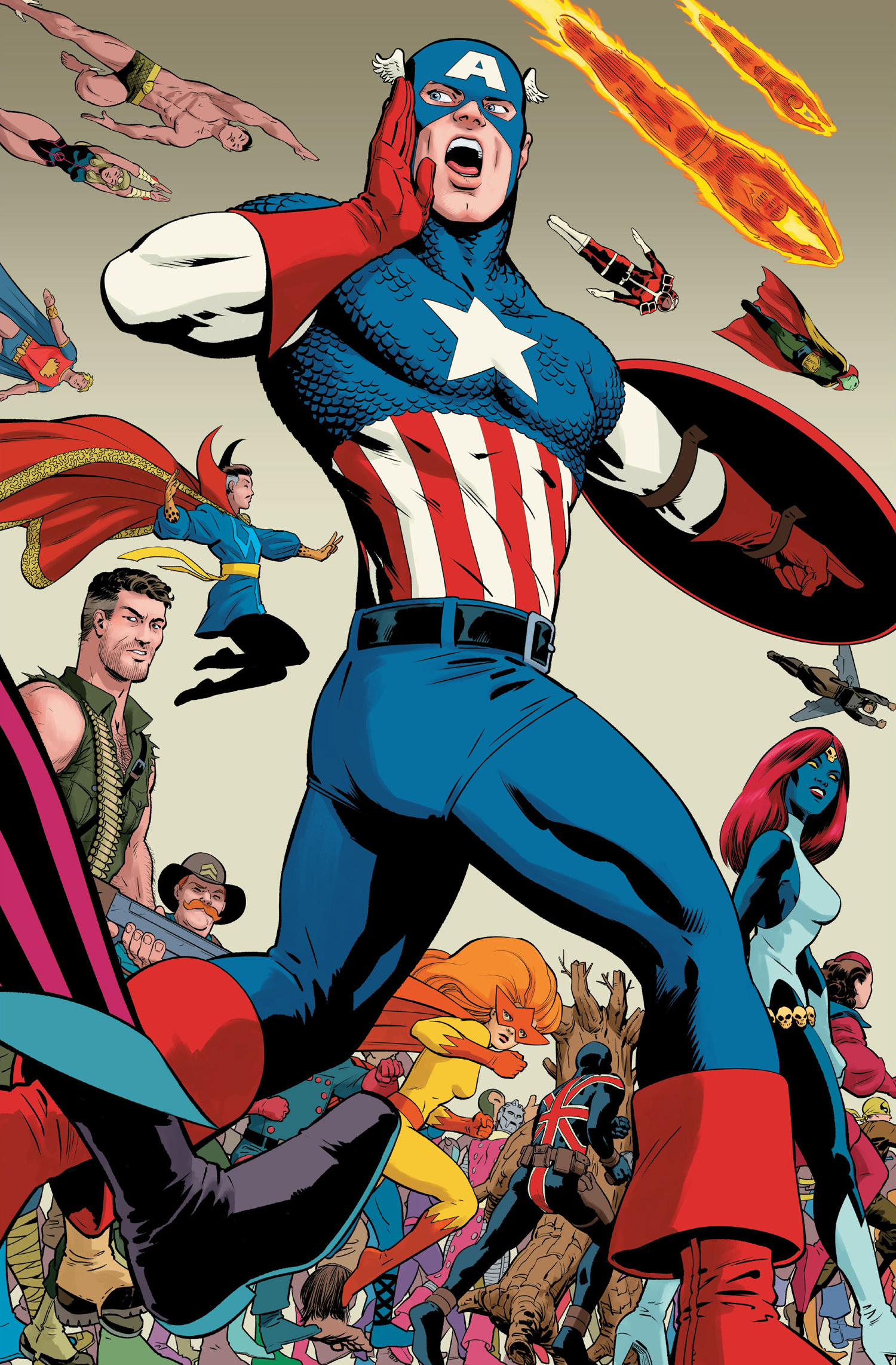History of the Marvel Universe Vol 2 2 Rodriguez Variant Textless.jpg