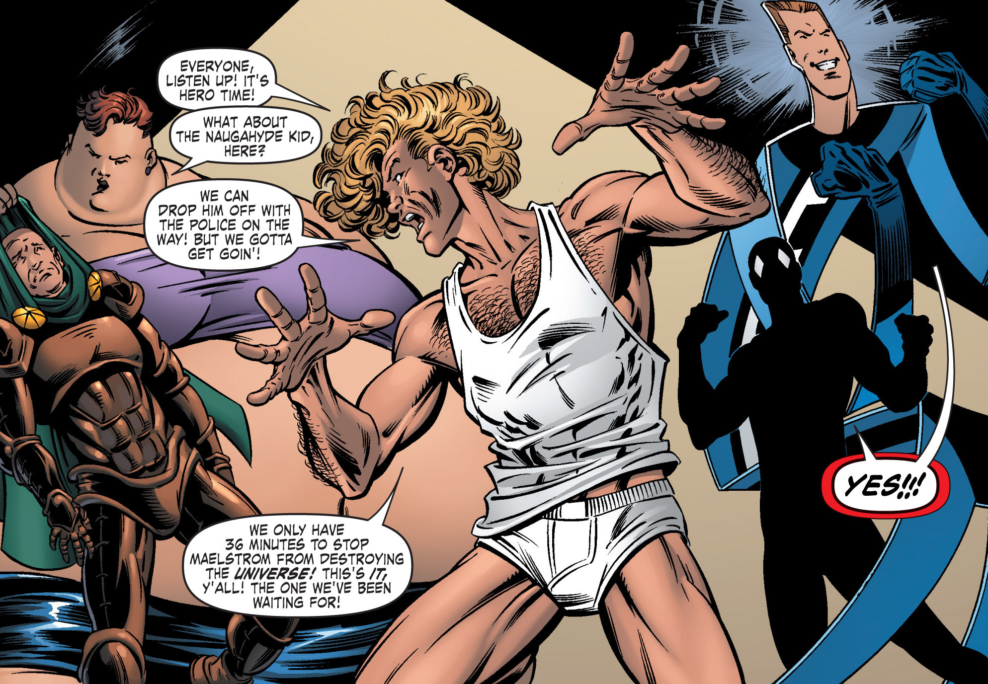 Gene Lorrene (Earth-616) and Great Lakes Avengers (Earth-616) from G.L.A. Vol 1 4 002.jpg
