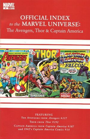 Avengers, Thor & Captain America Official Index to the Marvel Universe Vol 1 4.jpg