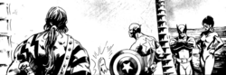 Avengers (Earth-10041) from Indomitable Iron Man (B&W) Vol 1 1 001.png