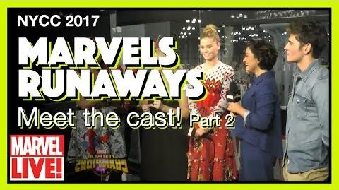 Cast of Hulu's Runaways (Part 2) -- Marvel LIVE! NYCC 2017