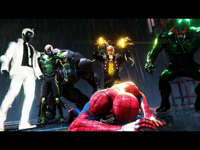Sinister Six (Earth-1048) attacking Peter Parker (Earth-1048) from Marvel's Spider-Man (video game) 001.jpg