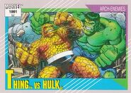 Benjamin Grimm vs. Bruce Banner (Earth-616) from Marvel Universe Cards Series II 001
