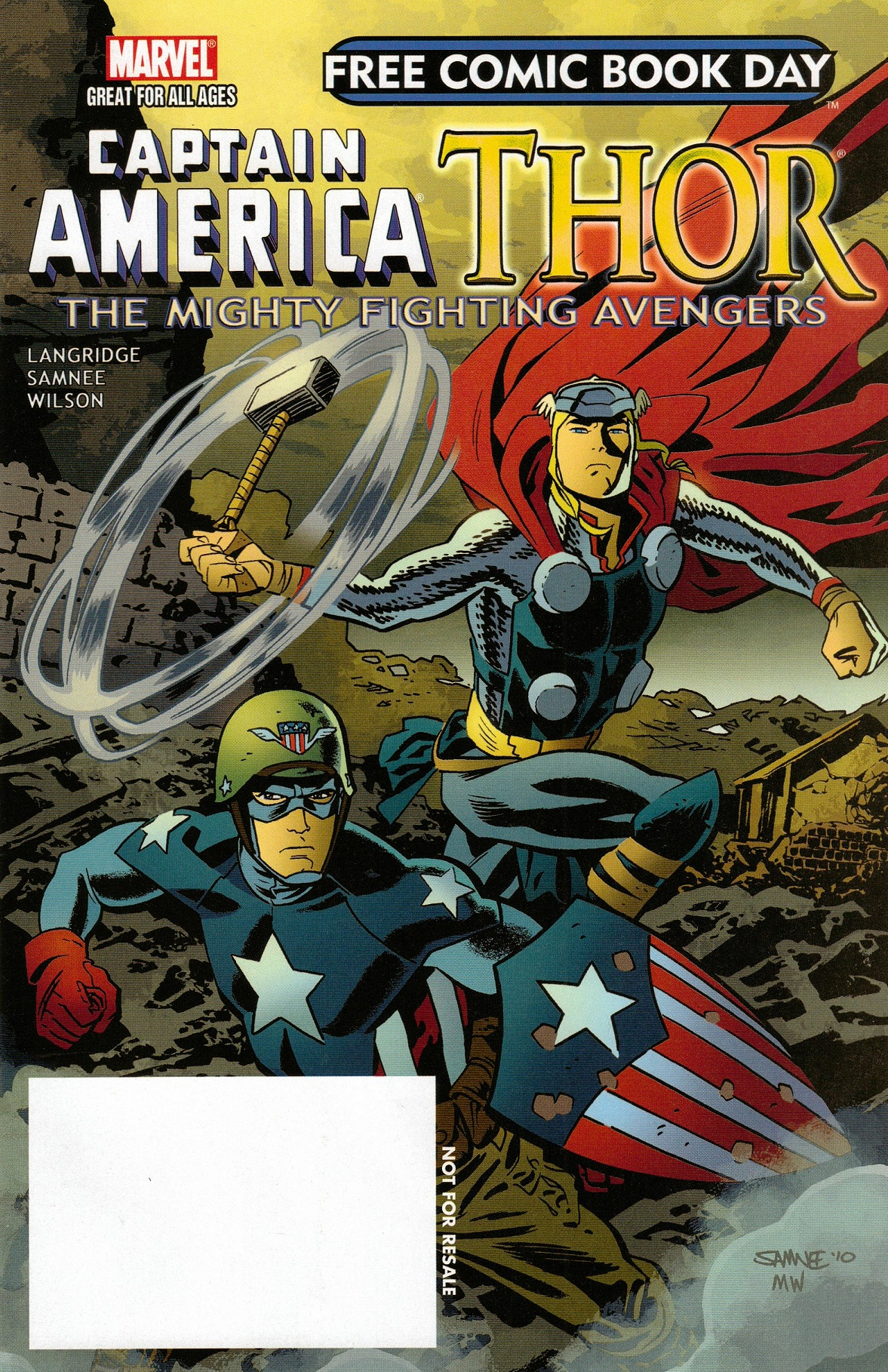 Free Comic Book Day Vol 2011 Captain America Thor