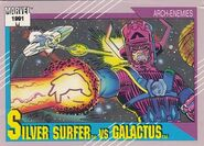 Norrin Radd vs. Galactus (Earth-616) from Marvel Universe Cards Series II 0001