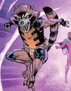 Rocket Raccoon (Earth-616) from Avengers No Road Home Vol 1 1 002