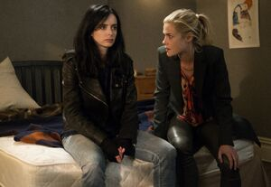 Jessica Jones (Earth-199999) and Patricia Walker (Earth-199999) from Marvel's Jessica Jones Season 1 7.jpg