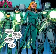 Carol Danvers (Earth-616), James Rhodes (Earth-616), Jessica Drew (Earth-616) and Jennifer Takeda (Earth-616) from Captain Marvel Vol 10 20 001