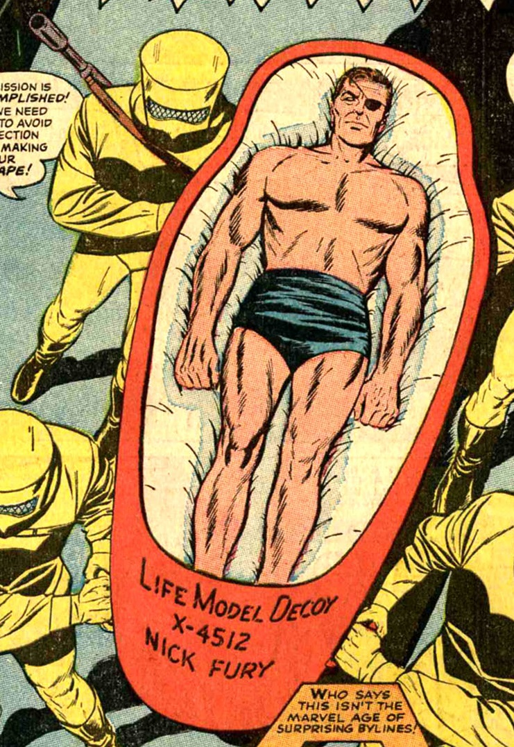 Nick Fury posing as a LMD in Strange Tales Vol 1 149.jpg