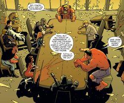 Avengers (Earth-11080), New Avengers (Earth-11080), and Avengers Academy (Earth-11080) from Marvel Universe Vs. The Avengers Vol 1 3 0001.jpg