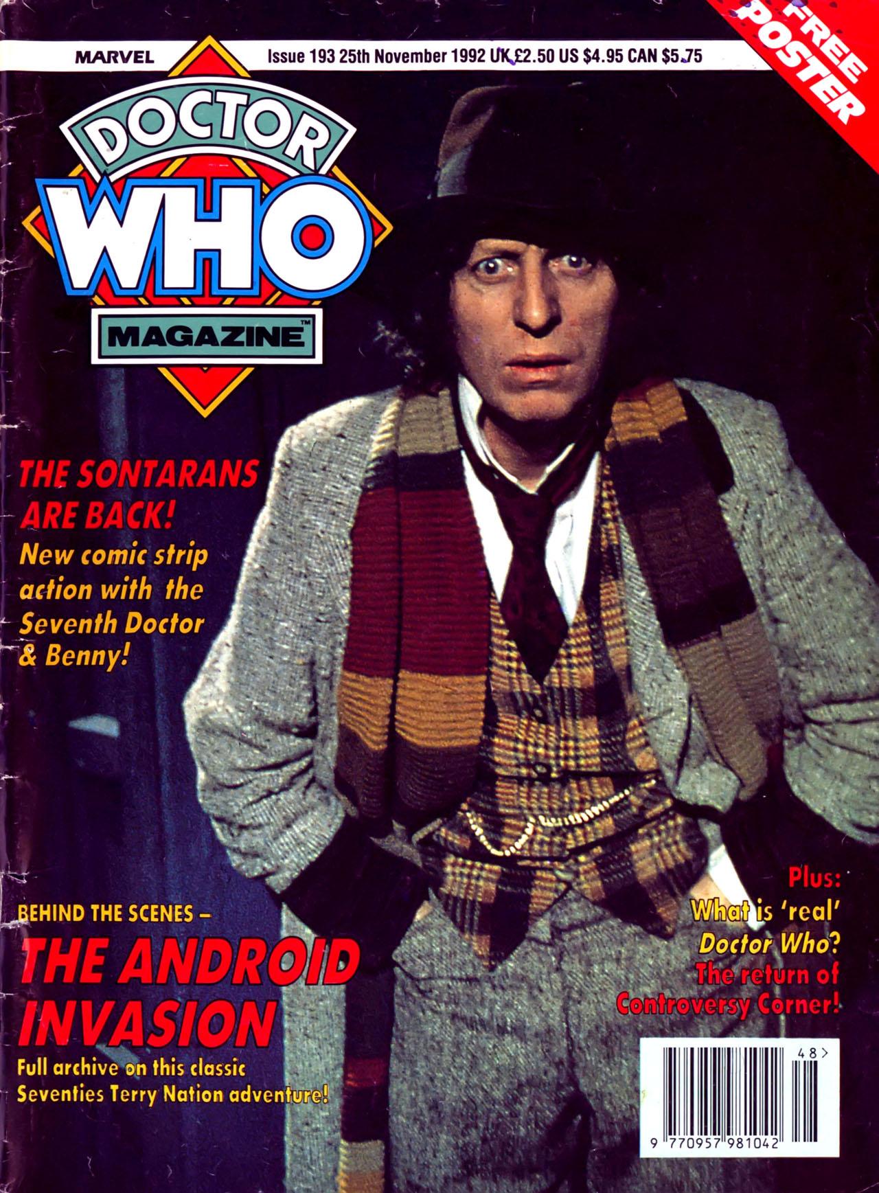 Doctor Who Magazine Vol 1 193