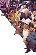 X-Men Prime Vol 2 1 Torque Connecting Variant Textless