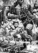 Rampaging Hulk Vol 1 7 Hulk Man-Thing Pinup