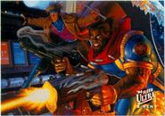 Remy LeBeau (Earth-616) and Lucas Bishop (Earth-1191) from 1994 Ultra X-Men (Trading Cards) 001