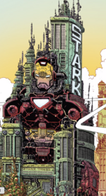 Stark Tower from 100th Anniversary Special - Avengers Vol 1 1 001.png