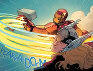 Thor Odinson (Earth-616) and Anthony Stark (Earth-616) from Thor Vol 6 8 001