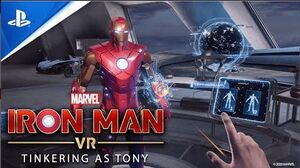Marvel's Iron Man VR Tinkering As Tony (Behind The Scenes) PS VR