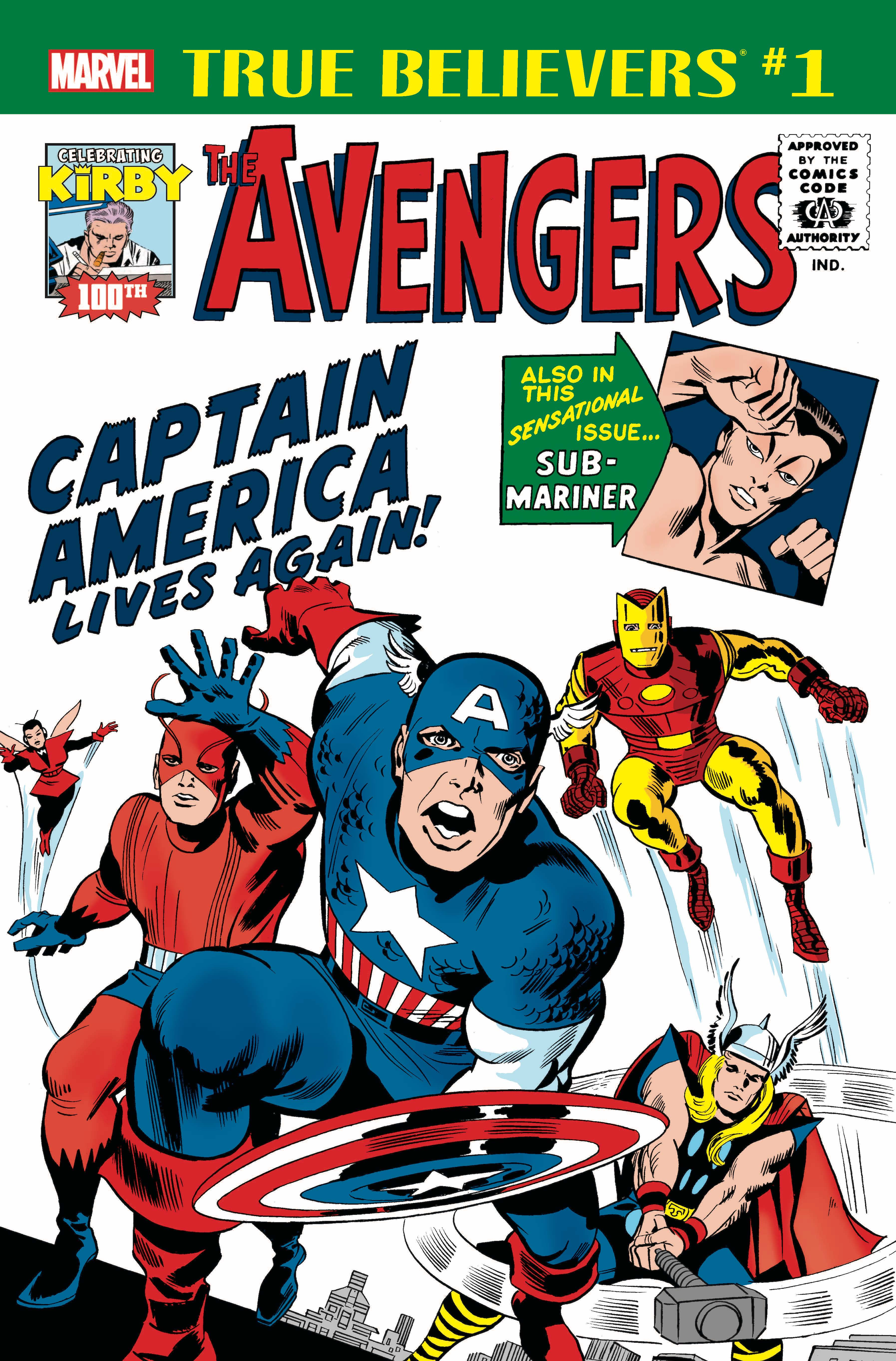 True Believers Kirby 100th - Avengers Captain America Lives Again! Vol 1 1.jpg