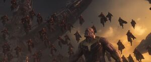 Thanos (Earth-199999), Stephen Strange (Earth-199999) and Images of Ikonn from Avengers Infinity War 001.jpg
