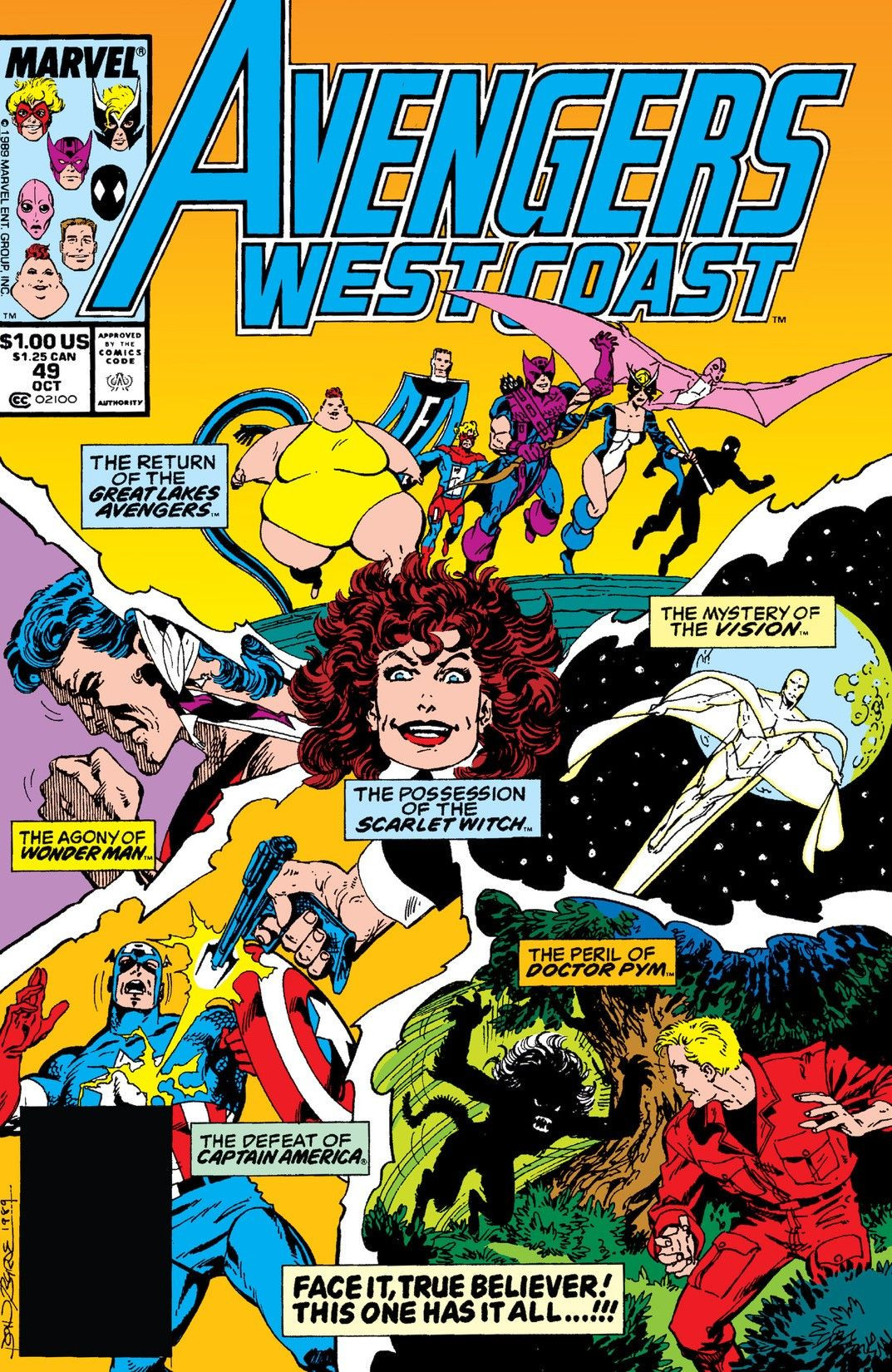 Avengers West Coast Vol 2 49