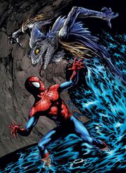 Curtis Conners (Earth-1610) and Peter Parker (Earth-1610) from Ultimate Marvel Team Up Vol 1 10 0001.jpg