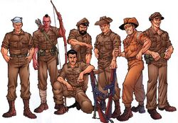 Leatherneck Raiders (Earth-616) from Official Handbook of the Marvel Universe A-Z Update Vol 1 2 001.jpg
