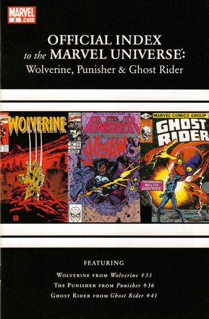 Wolverine, Punisher & Ghost Rider Official Index to the Marvel Universe Vol 1 2.jpg