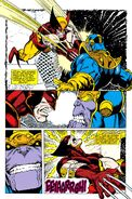 James Howlett (Earth-616) and Thanos (Earth-616) from Infinity Gauntlet Vol 1 4 001