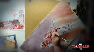 Marvel's Iron Man VR Time-lapse Drawing