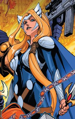 Brunnhilde (Earth-616) from Asgardians of the Galaxy Vol 1 8 cover 001.jpg