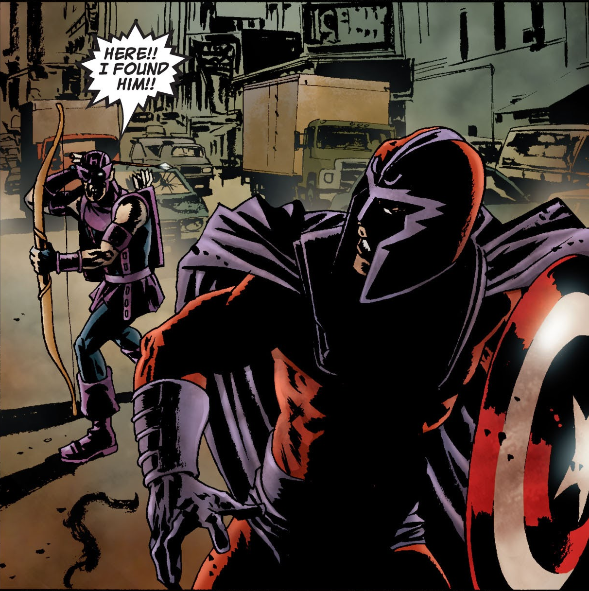 Clinton Barton (Earth-2149) and Max Eisenhardt (Earth-2149) from Marvel Zombies Vol 1 1 0001.png