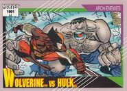 James Howlett vs. Bruce Banner (Earth-616) from Marvel Universe Cards Series II 001