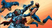 Ord (Breakworld) (Earth-616), Henry McCoy (Earth-616) and James Howlett (Earth-616) from Astonishing X-Men Vol 3 2 0001