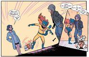 Hedy Wolfe (Earth-616), Betty (Dog) (Earth-616), Patricia Walker (Earth-616) and Jessica Jones (Earth-616) from Patsy Walker, A.K.A. Hellcat! Vol 1 7 001