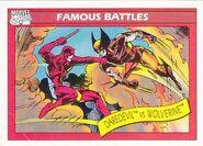 Matthew Murdock vs. James Howlett (Earth-616) from Marvel Universe Cards Series I 0001