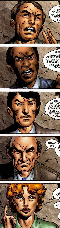 Hate-Mongers various faces of Adam Hauser from Captain America Vol 3 47.jpg