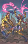 James Howlett (Earth-616) and Topaz (Earth-93060) from Battlezones Dream Team 2 Vol 1 1 0001