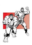 Bruce Banner (Earth-616) and Hercules Panhellenios (Earth-616) from FOOM Vol 1 6 001