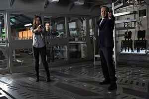 Daisy Johnson (Earth-199999), Leopold Fitz (Earth-199999), and Phillip Coulson (Earth-199999) from Marvel's Agents of S.H.I.E.L.D. Season 1 17 001.jpg